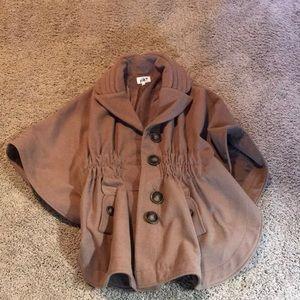 Tan cape jacket